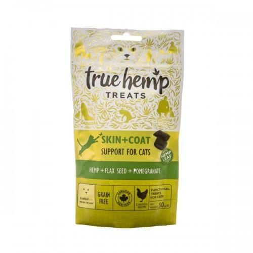 Snacks True Hemp Skin & Coat para gatos sabor Pollo