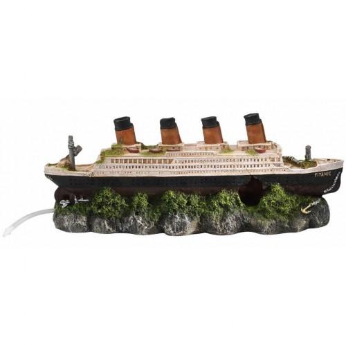 Titanic naufragado decoración de acuarios color Multicolor