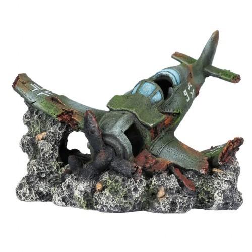 Avión estrellado para decoración de acuarios color Verde