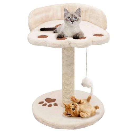 Rascador de felpa y sisal para gatos color Beige