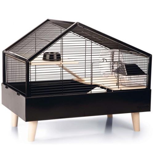 Jaula para roedores color Negro