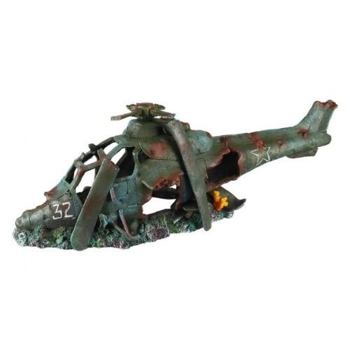 Helicóptero de decoración para acuarios color Multicolor