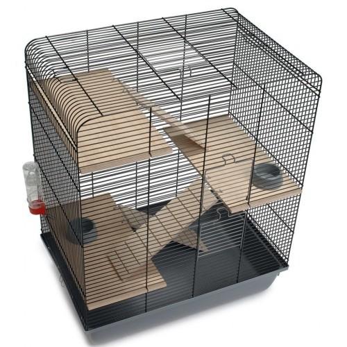 Casa Gordy para roedores color Negro