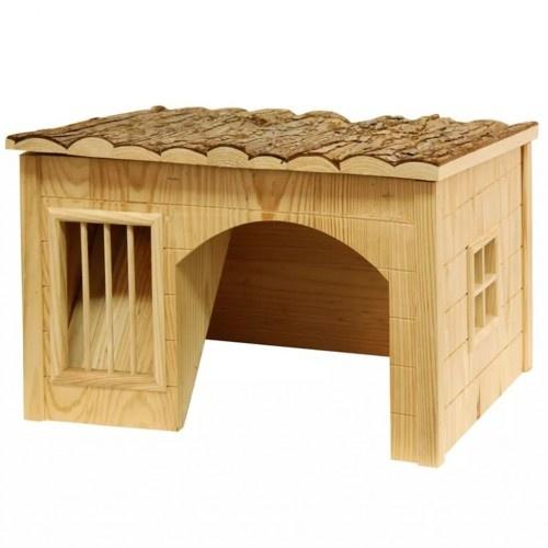 Casa de madera para conejos color Marrón