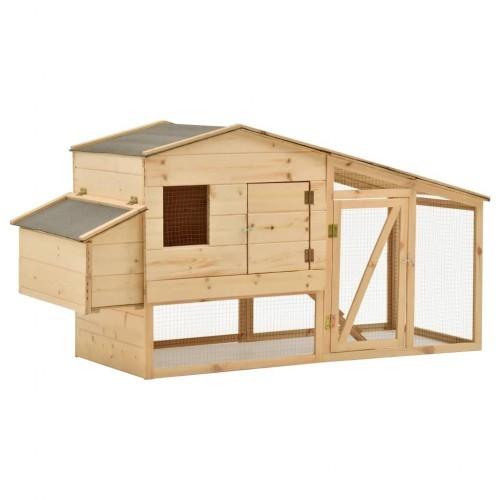 Gallinero de madera para exterior dos niveles