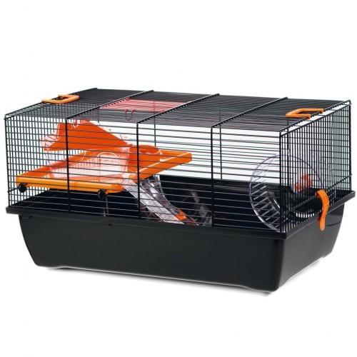 Jaula para roedores con rueda color Negro