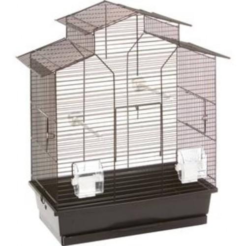 Jaula metálica para pájaros con 3 puertas color Negro