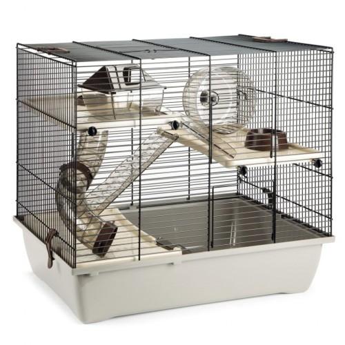 Jaula Pinky 3 para roedores color Marrón Moca