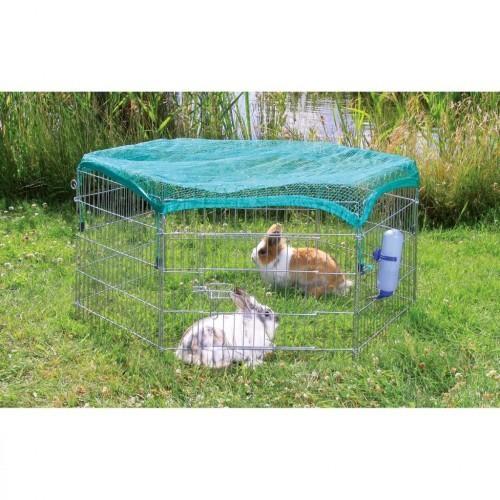 Jaula corral de exterior para conejos color Plateado