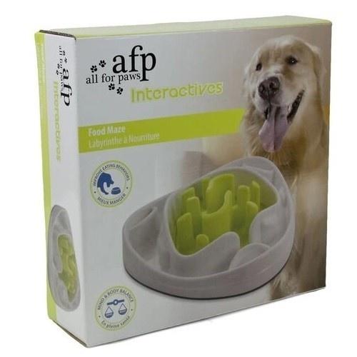 Comedero Interactivo para perros color Blanco y Verde