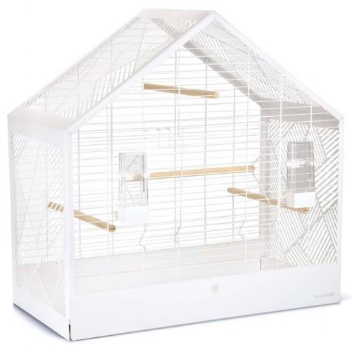 Jaula de metal para pájaros color Blanco