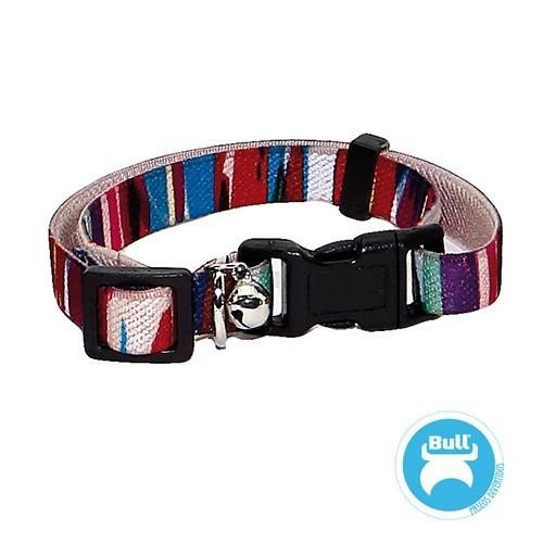 Collar elástico de nylon Fashion para gatos color Multicolor