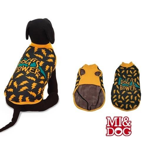 Abrigo con capa felpado Red Dog para perros color Negro y Naranja