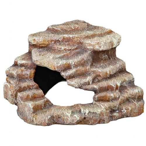 Roca esquinera para terrarios color Marrón
