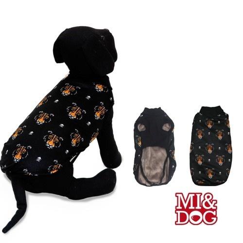 Abrigo con capa felpado para perros color Negro