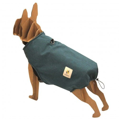 Chubasquero Siberia para perros color Azul Pavo