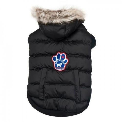 Abrigo Parka Polo Norte Canada Pooch  para perros color Negro