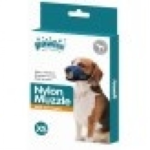 Bozal de nylon ajustable para perros color Azul