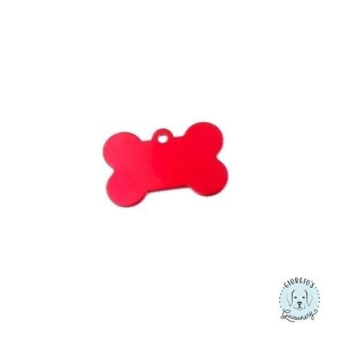 Chapa hueso para perro color Rojo