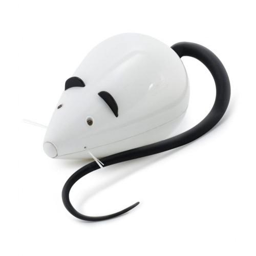 Señuelo para gatos forma de ratón color Blanco y Negro