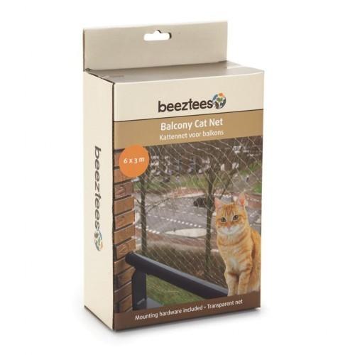Red de balcón para gatos color Transparente