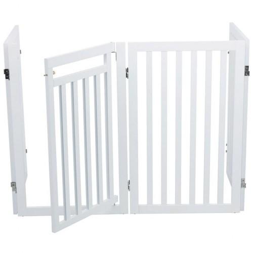 Barrera con puerta para perros color Blanco