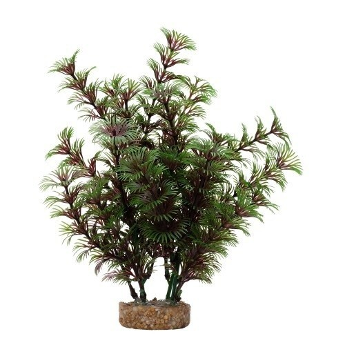 Planta artificial Cobomba Roja 20 cm color Verde