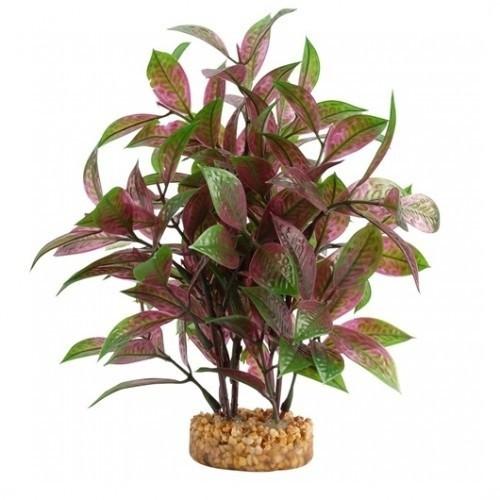 Planta artificial Ludwigia Roja 20 cm color Verde y Rojo
