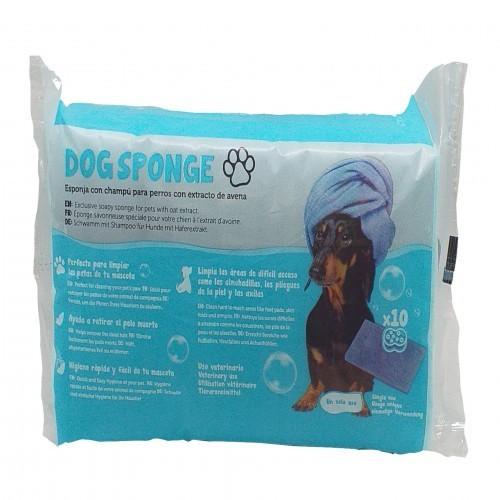 Esponja con champú de lavado para perros color Azul