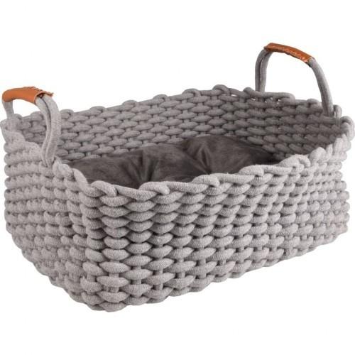 Cama Enya con forma de cesta para gatos color Gris