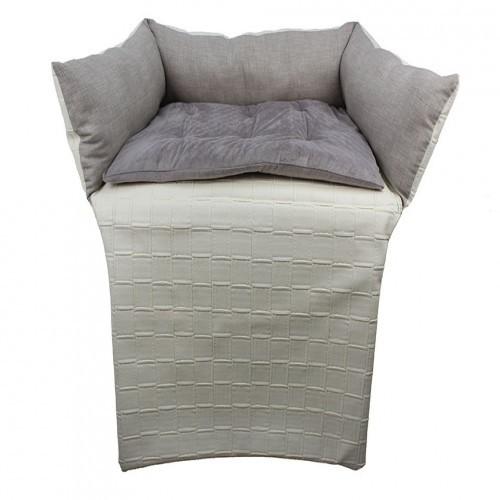 Cama multifunción de sofá para mascotas color Crema