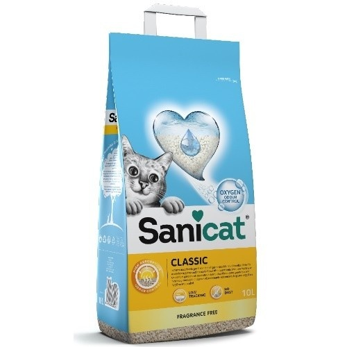 Arena para gatos Sanicat Classic 10 litros