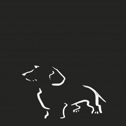 Ilustración de Terrier A4 sin marco color Negro