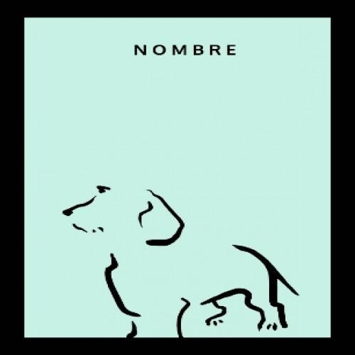 Ilustración de Terrier A4 con marco negro color Mint