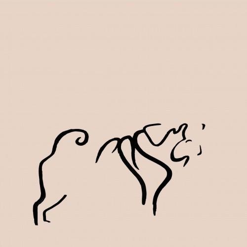 Ilustración de Carlino sin marco color Rosa