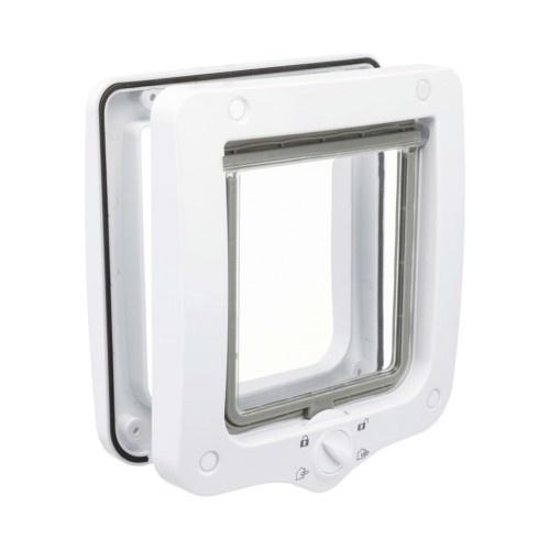 Gatera con sellado especial y cerradura magnética color Blanco