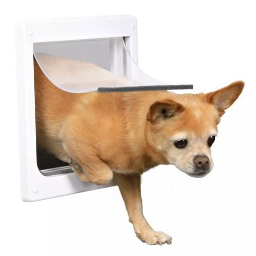 Puerta para perro pequeña color Blanco