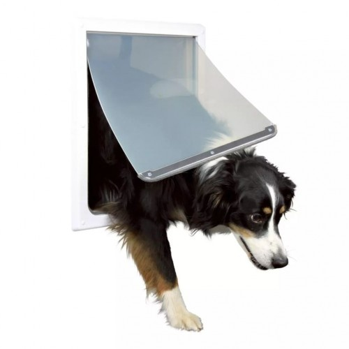 Puerta para perro mediano y grandes color Blanco