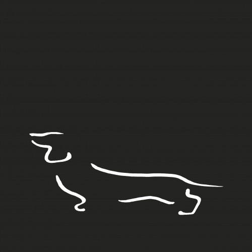 Ilustración de Teckel A4 sin marco color Negro