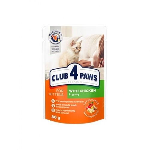 Club 4 Paws Pienso húmedo para gatitos Pollo en salsa