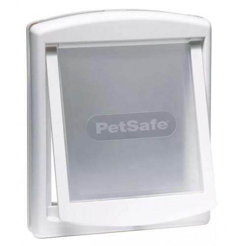 Puerta de dos posiciones para perros color Blanco