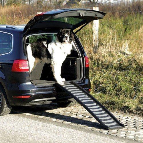 Rampa de acceso de perros para el coche color Gris y Negro