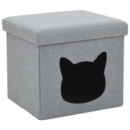 Cama cubo desmontable para gatos color Gris
