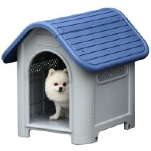 Caseta para perros pequeños y mini color Azul y Gris