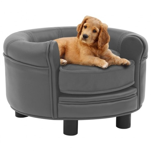 Sofá redondo para perros color Gris