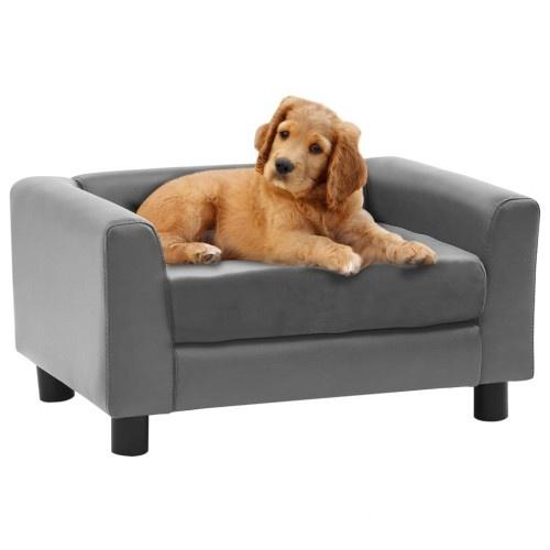 Sofá compacto para perros color Gris