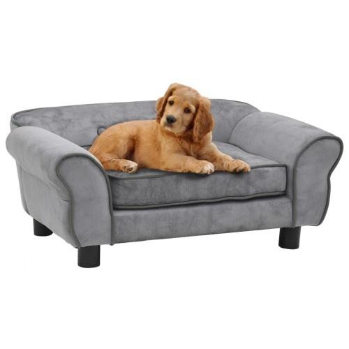 Sofá elegante para perros color Gris
