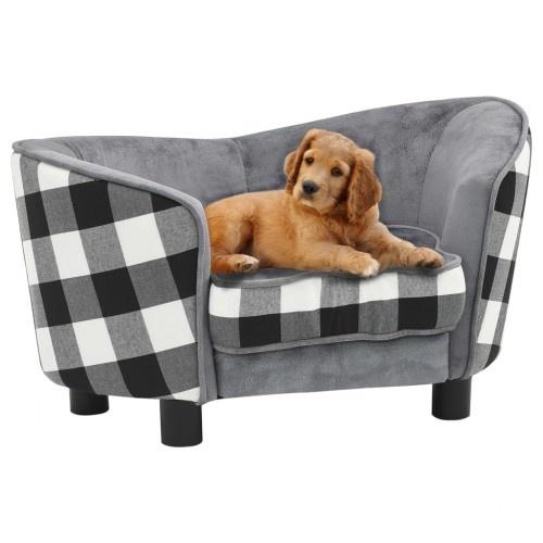 Sofá con estampado de cuadros para perros color Gris