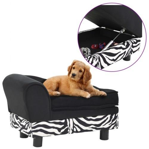 Sofá de estilo diván para perros color Negro