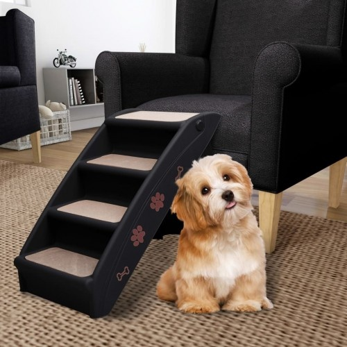 Escalera de acceso al sofá para perros color Negro